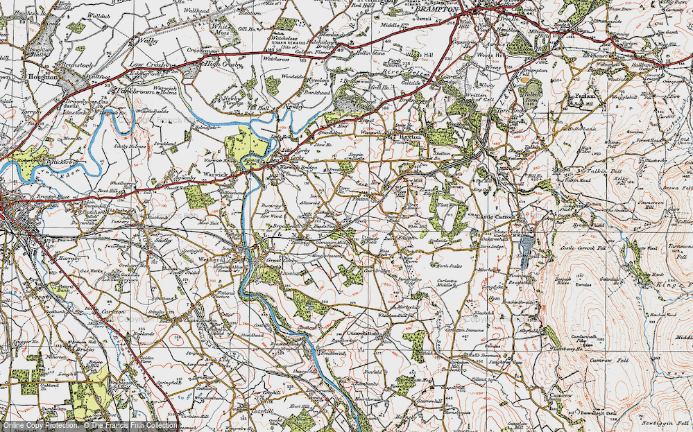 Old Map of Allenwood, 1925 in 1925