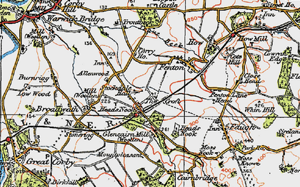 Old map of Allenwood in 1925