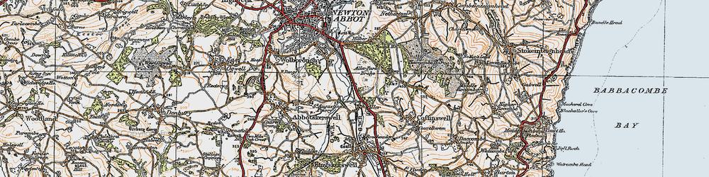 Old map of Aller Park in 1919