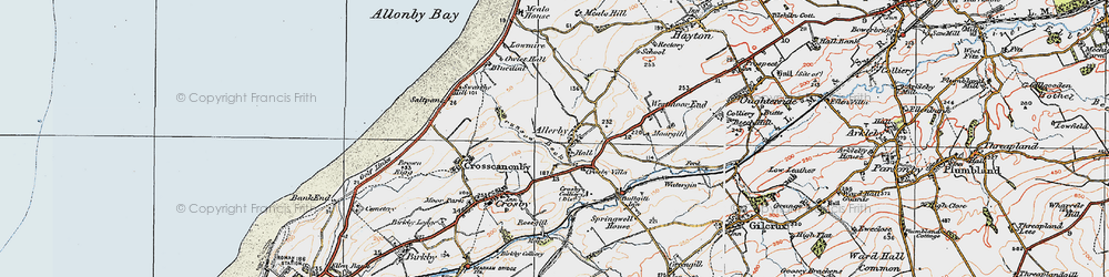 Old map of Allerby in 1925
