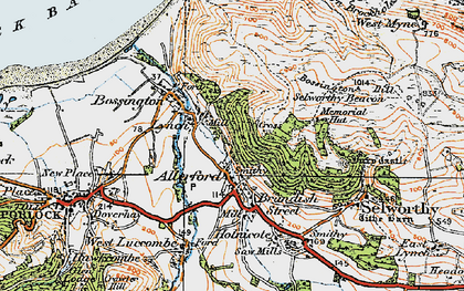 Old map of Western Brockholes in 1919