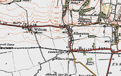 Old map of Allerston in 1925