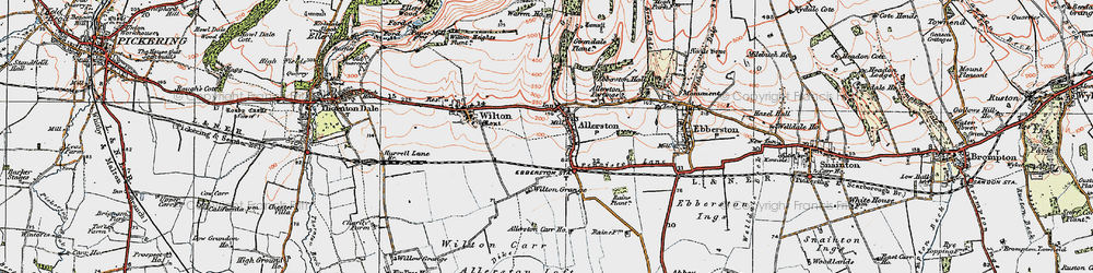 Old map of Wilton Grange in 1925