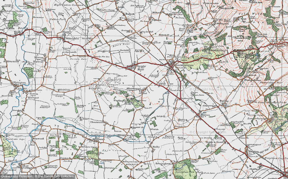 Old Map of Allerthorpe, 1924 in 1924