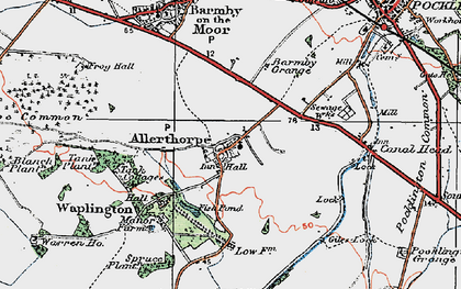 Old map of Allerthorpe in 1924