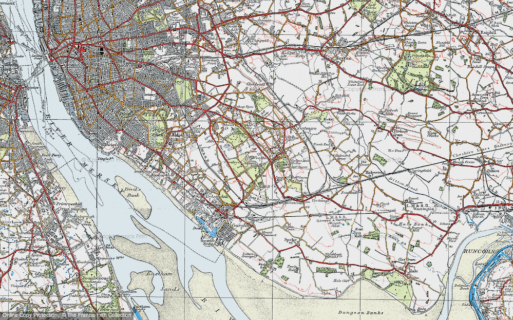 Old Map of Allerton, 1923 in 1923