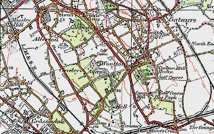 Old map of Allerton in 1923