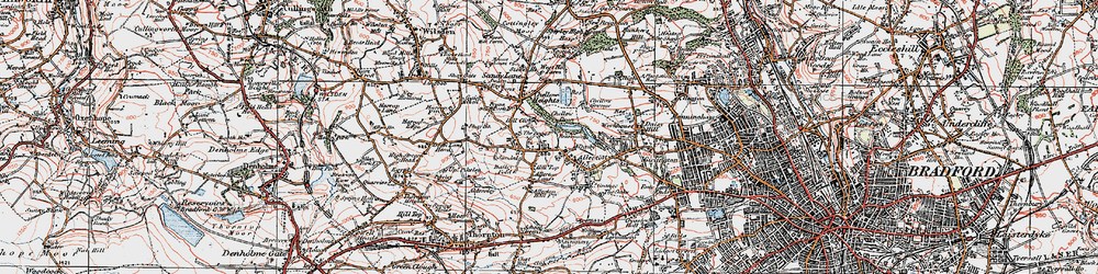 Old map of Allerton in 1925