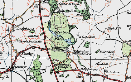 Old map of Allerton Grange in 1925