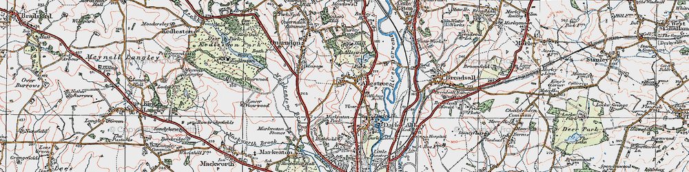 Old map of Allestree Park in 1921