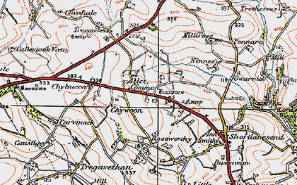 Old map of Allet in 1919