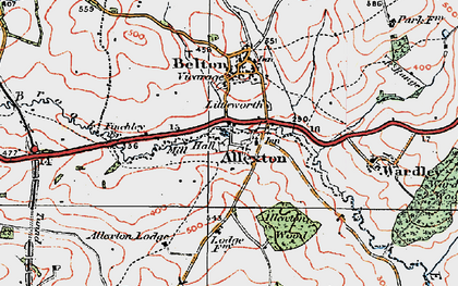 Old map of Allexton in 1921
