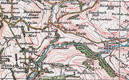 Old map of Allgreave in 1923