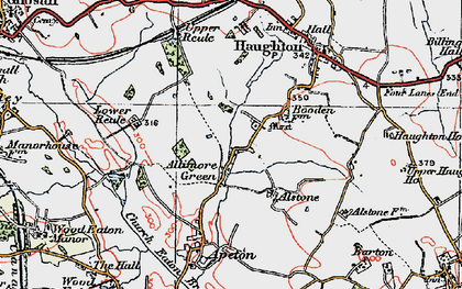 Old map of Allimore Green in 1921