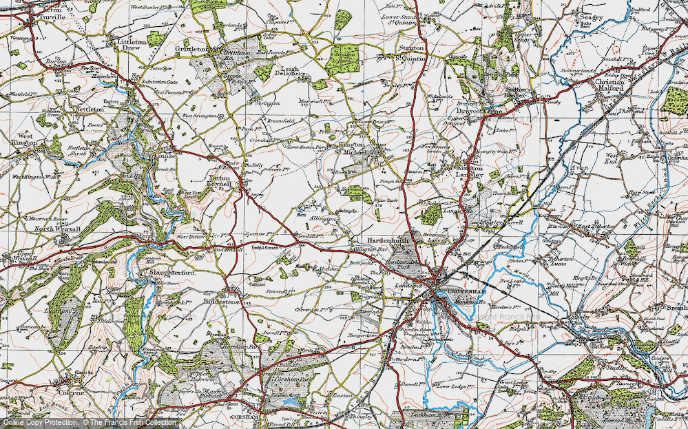 Old Map of Allington, 1919 in 1919