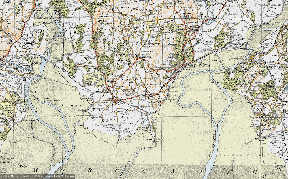 Old Map of Allithwaite, 1925 in 1925