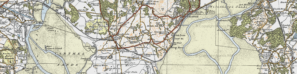 Old map of Allithwaite in 1925