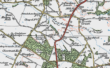 Old map of Allostock in 1923