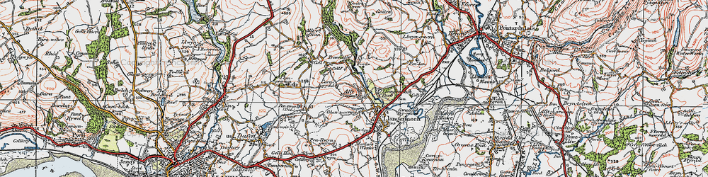 Old map of Allt in 1923