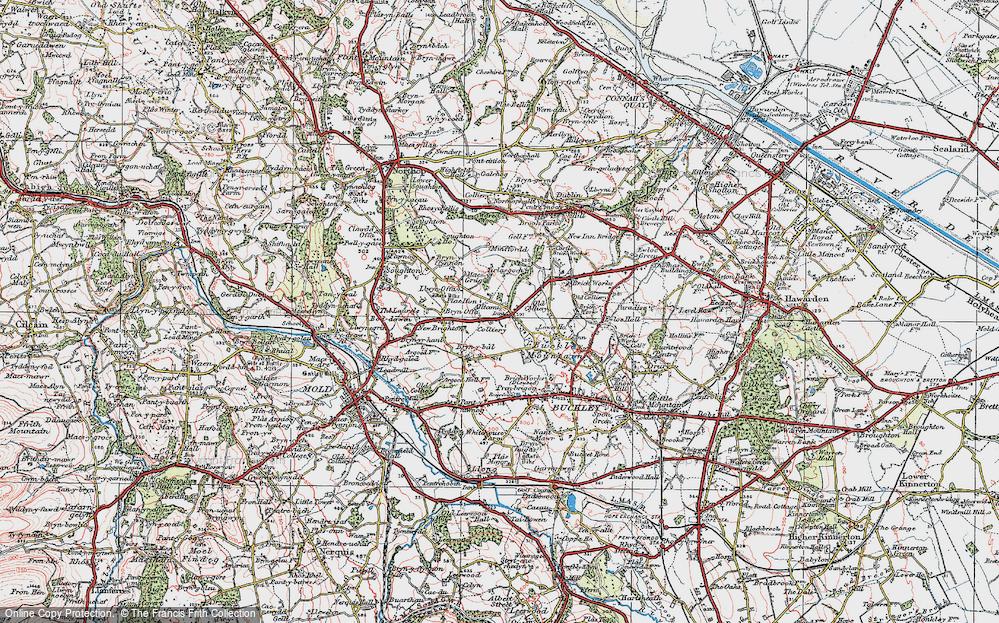 Old Map of Alltami, 1924 in 1924
