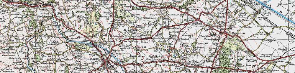 Old map of Tirlasgoch in 1924