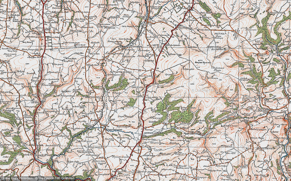 Old Map of Alltwalis, 1923 in 1923