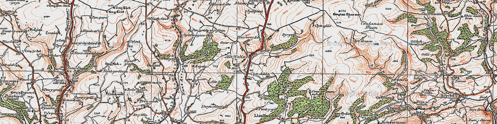 Old map of Alltwalis in 1923
