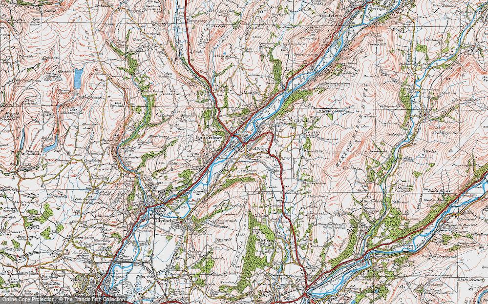 Old Map of Alltwen, 1923 in 1923