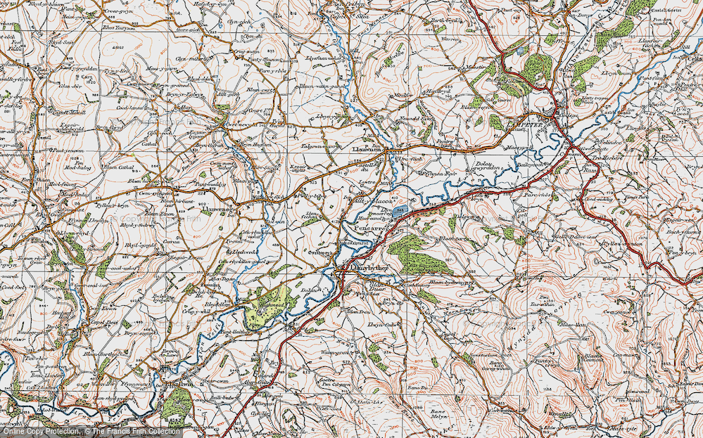 Old Map of Alltyblaca, 1923 in 1923