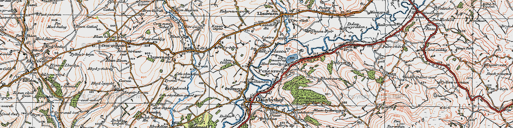 Old map of Alltyblaca in 1923