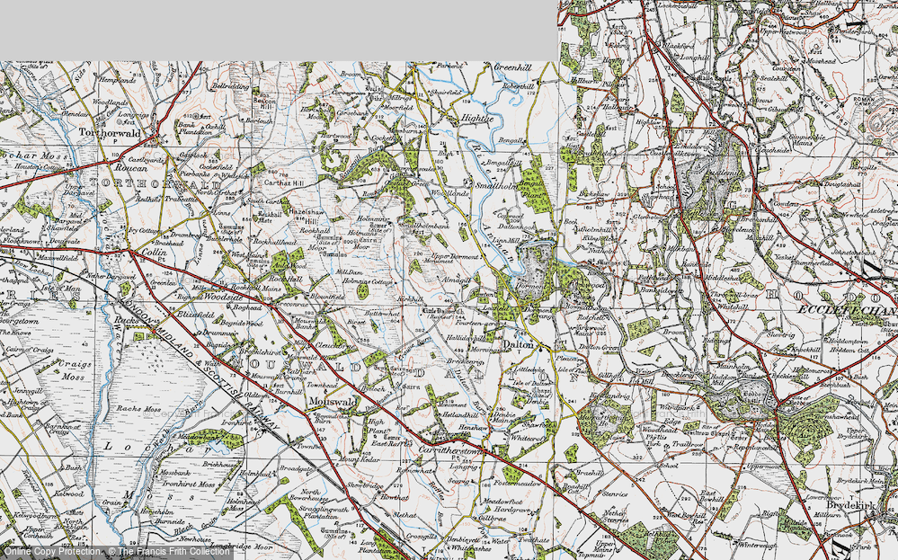 Old Map of Almagill, 1925 in 1925