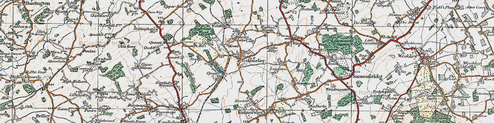 Old map of Almeley in 1920