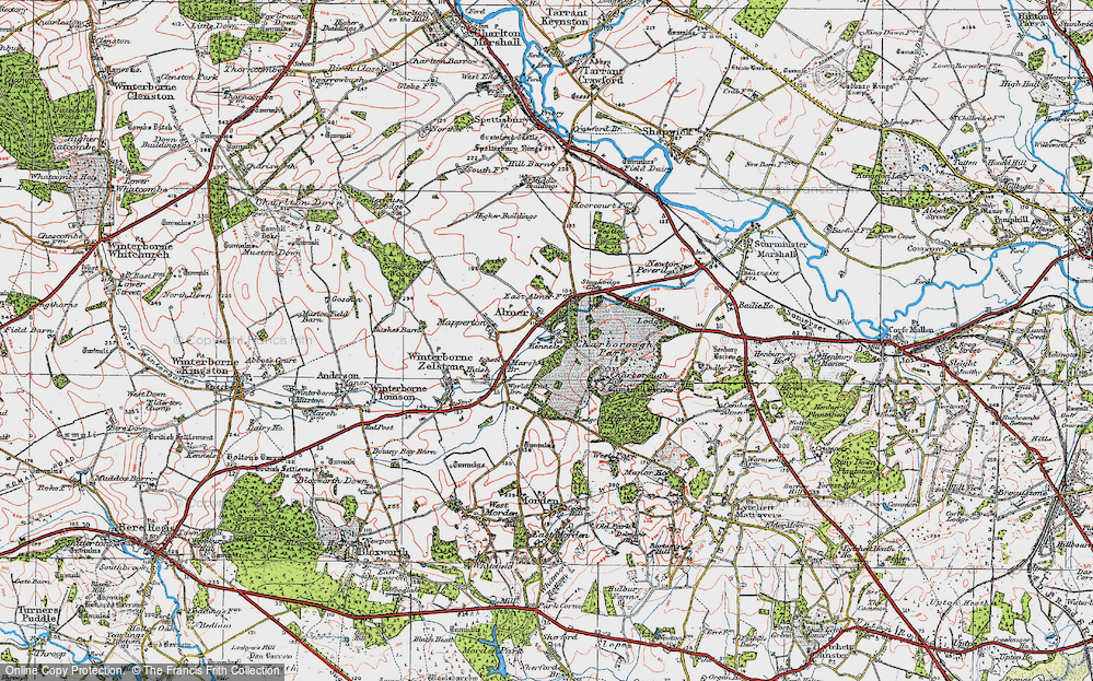Old Map of Almer, 1919 in 1919