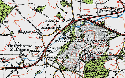 Old map of Almer in 1919
