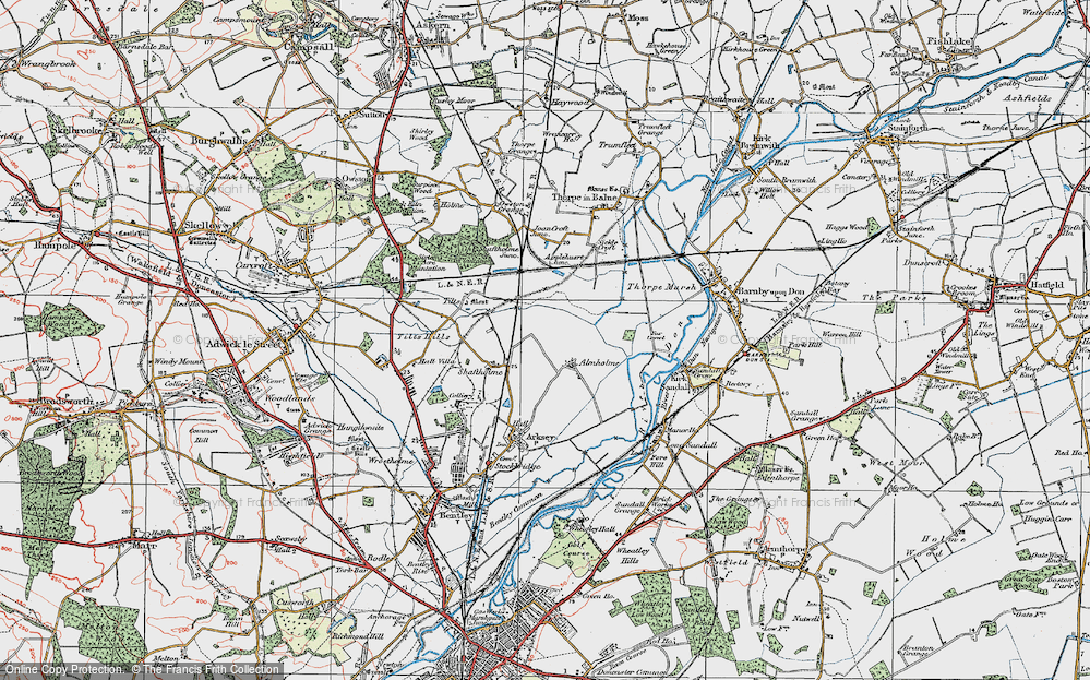Old Map of Almholme, 1923 in 1923