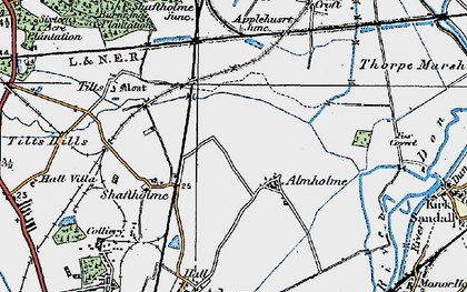 Old map of Almholme in 1923