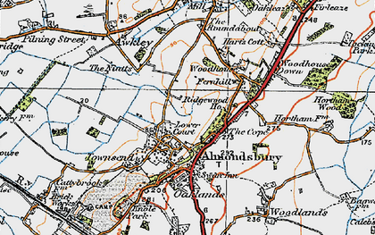 Old map of Almondsbury in 1919