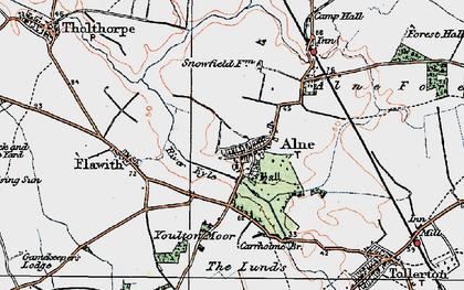 Old map of Alne in 1924