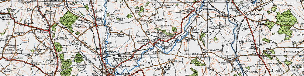 Old map of Alne End in 1919