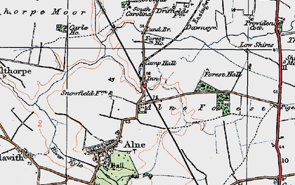 Old map of Alne Station in 1924