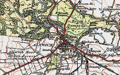 Old map of Abbeylands in 1925