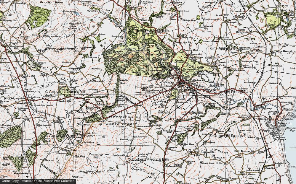 Alnwick Moor or Aydon Forest (Inner), 1925