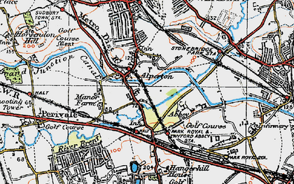 Old map of Alperton in 1920