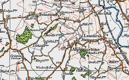 Old map of Alphamstone in 1921