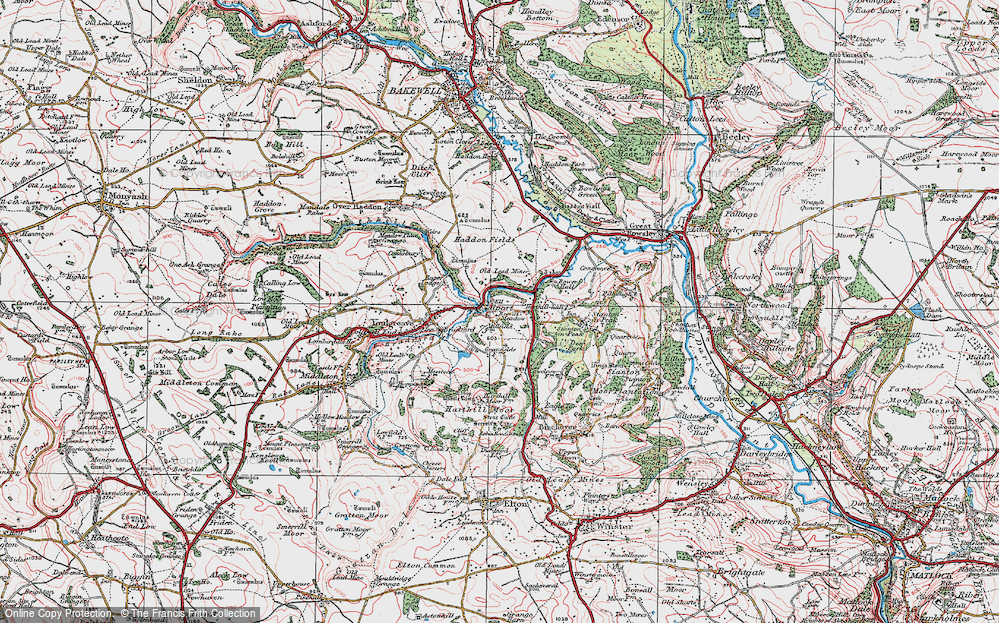 Old Map of Alport, 1923 in 1923