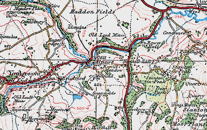 Old map of Alport in 1923