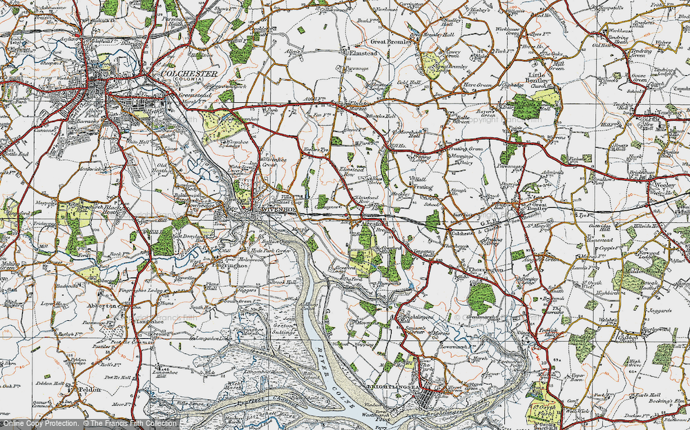 Old Map of Alresford, 1921 in 1921