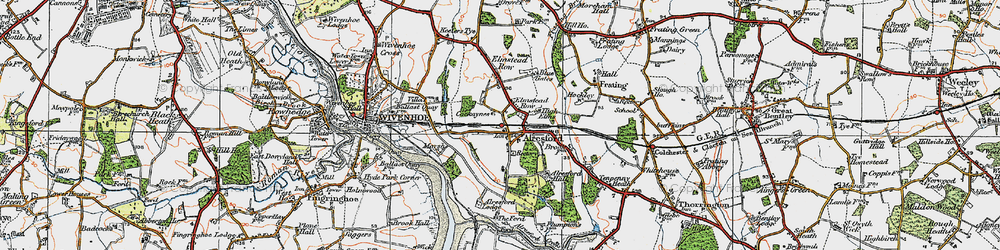 Old map of Alresford Hall in 1921