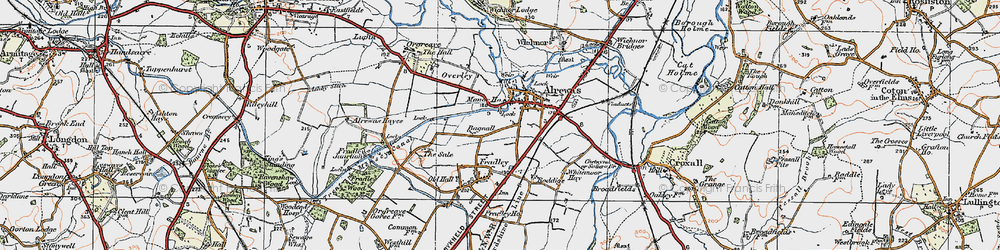 Old map of Alrewas in 1921