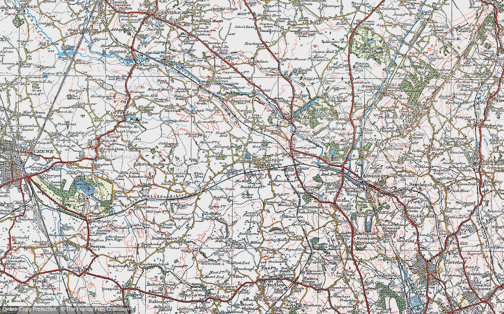 Old Map of Alsager, 1923 in 1923